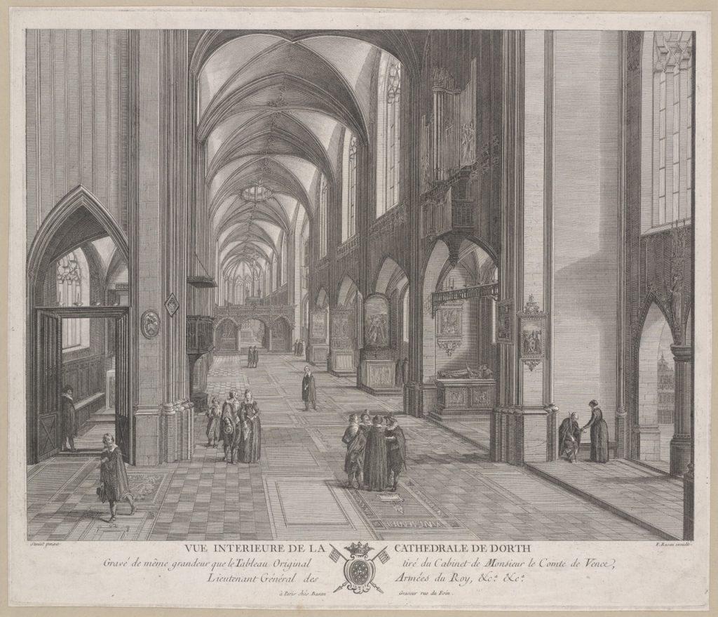 artigeschenk interieur van de grote kerk van dordrecht vue intrieure de la cathdrale de dordt